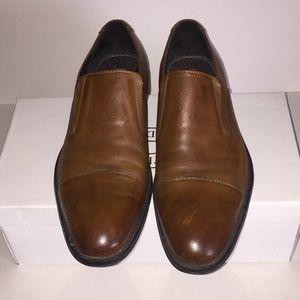 Ashton Grey Cap Toe Slip-On Loafers Shoes US 10.5